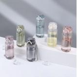 450ML蔓延时尚弹盖塑料杯时尚随身杯运动手提太空杯