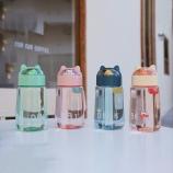 330ML卡通爱宠塑料杯微景观杯盖可爱少女心学生水杯子