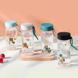 360ML创意3D立体熊先生玻璃杯可爱便携简约小清新水杯