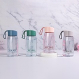 380ML时尚彩色透明太空塑料杯男女学生户外运动水杯