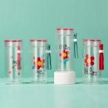 260ML欧彩小红花玻璃杯