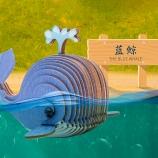 蓝色星球-蓝鲸 diy手工制作拼装玩具桌面摆件