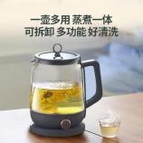 1L灰绿色煮茶器多功能全自动养生蒸茶办公室小型家用