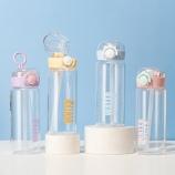 420ML英文款美乐吸管玻璃杯简约清新学生情侣便携水杯