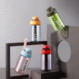 460ML多彩运动提绳塑料杯Tritan水杯创意大容量健身水杯