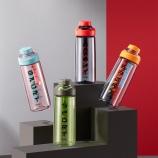 670ML多彩运动提绳塑料杯Tritan水杯创意大容量健身水杯