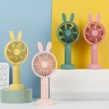 兔子卡通手持风扇便携式USB充电儿童学生可爱小风扇