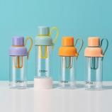 500ML手塑料杯户外运动健身便携果汁蛋白粉摇摇杯
