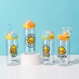 350ML创意潮玩鸭弹跳盖塑料杯小清新学生便携杯子