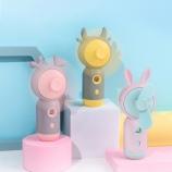 卡通喷雾风扇便携式USB充电补水仪风扇加湿器电风扇