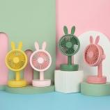 兔子台式风扇可调节学生宿舍办公室便携式桌面立式台扇