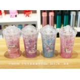 450ML小马宝莉冰酷杯夏日水杯双层塑料吸管杯