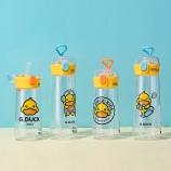 500ML创意潮流乐酷鸭弹盖塑料杯小清新学生便携杯子