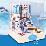 听海-VIAI小屋DIY手工制作拼装房子玩具模型生日礼物