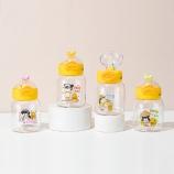 300ml女孩小鸭塑料杯清新可爱便携提手弹盖水杯