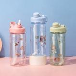 1700ml提手吸管大容量水壶户外运动健身便携塑料杯