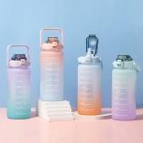 2000ml亿本绚丽渐变太空塑料杯大容量户外运动水壶