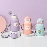 450ML B-Family儿童保温杯一杯两盖吸管水壶送贴纸