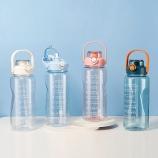 2000ML大容量提手塑料杯带吸管户外运动健身杯子