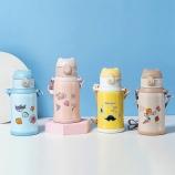 550ML卡通快乐熊甜心系列保温杯304不锈钢儿童吸管杯