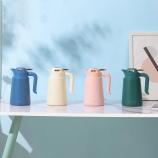 1200ML轻奢款欧式咖啡壶大容量显温带手柄保温壶