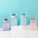 1400ML亿本慕斯小胖塑料杯大容量户外运动水壶