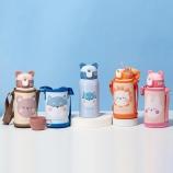 500ML瞌睡宝贝儿童保温杯304不锈钢一杯两盖吸管杯