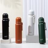 850ML大容量艾享保温杯304不锈钢简约时尚商务水杯