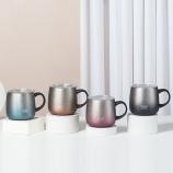473ML大肚马克保温杯304不锈钢带手柄商务办公咖啡杯