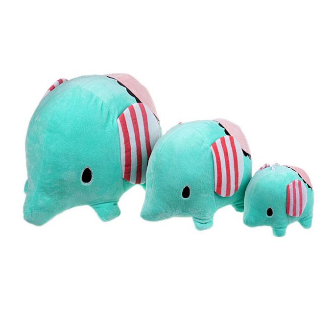 萌可爱的忧伤马戏团小象毛绒玩具以薄荷绿小清新的色彩受到众多粉丝的